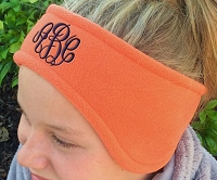 Orange Fleece Headband Ear Warmer